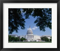 Framed Capitol Building, Washington, D.C. Photo