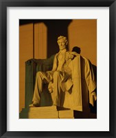 Framed Low angle view of a statue, Lincoln Memorial, Washington DC, USA
