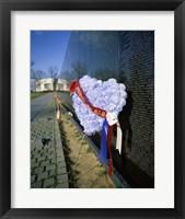 Framed Close-up of a memorial, Vietnam Veterans Memorial Wall, Vietnam Veterans Memorial, Washington DC, USA