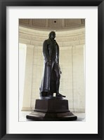 Framed Statue of Thomas Jefferson in a memorial, Jefferson Memorial, Washington DC, USA