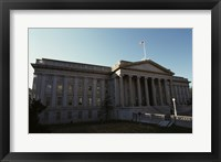 Framed Facade of a financial building, Department of the Treasury, Washington DC, USA