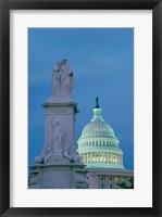 Framed Peace Monument Capitol Building Washington, D.C. USA