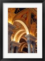 Framed Interiors of a library, Library Of Congress, Washington DC, USA