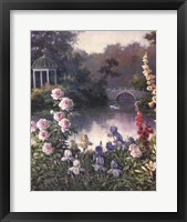 Framed Summer Garden Triptych 1