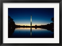 Framed Reflection of an obelisk on water, Washington Monument, Washington DC, USA