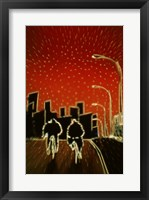 Framed Cycling at night