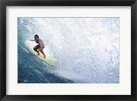 Surfing - In the Curl Framed Print