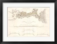 Framed Canal du Cape-Cod Massachusetts, 1834 map