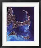 Framed Cape Cod - from space