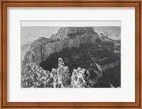 Framed Close-in view of curved cliff, Grand Canyon National Park, Arizona