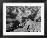 Framed Grand Canyon canyon and ravine