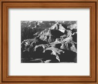 Framed Grand Canyon close in panorama