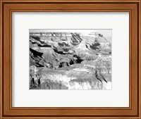 Framed Grand Canyon National Park canyon with ravine winding
