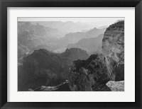 Framed View, looking down, Grand Canyon National Park, Arizona, 1933