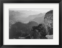 Framed View, looking down, Grand Canyon National Park, Arizona, 1933