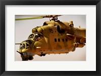 Framed Mi-35 Hind helicopter
