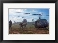 Framed UH-1D helicopters in Vietnam 1966