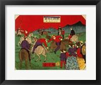 Framed Hiroshige polo