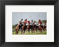 Framed Indonesia plays against Thailand in a round robin SEA Games 2007 Thailand Polo match
