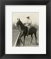 Framed M.J. Waterbury, polo player