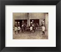 Framed Manipur Polo Players 1875