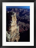 Grand Canyon National Park with Dark Sky Framed Print