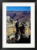 Rock Formations at Grand Canyon National Park Framed Print