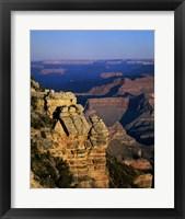 High angle view of rock formations, Grand Canyon National Park, Arizona, USA Framed Print