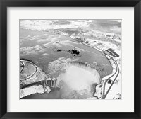 Framed Niagara Falls, Bell helicopter flying
