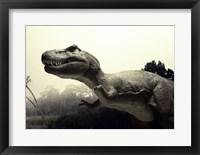 Framed Close-up of a Tyrannosaurus Rex