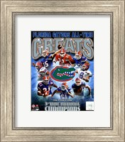 Framed University of Florida Gators All Time Greats Composite