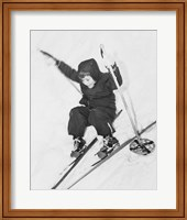 Framed Boy skiing on snow