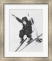 Framed Boy skiing on snow