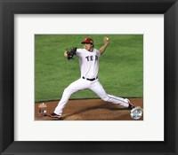 Framed Derek Holland Game 4 of the 2011 MLB World Series Action (#16)