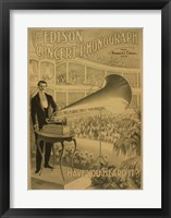Framed Edison concert phonograph Have you heard it