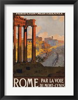 Framed Rome Vintage Travel