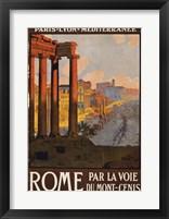 Framed Rome Vintage Travel