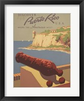 Framed Discover Puerto Rico U.S.A.