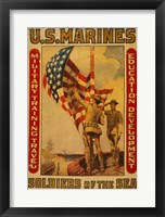 Framed U.S. Marines - Soldiers of the sea