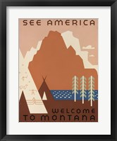 Framed See America Welcome to Montana
