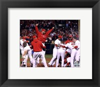 Framed St. Louis Cardinals Celebrate Winning World Series in Game 7 of the 2011 World Series (Team Celebration)