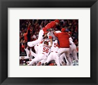 Framed St. Louis Cardinals Celebrate Winning World Series in Game 7 of the 2011 World Series (Celebration #2)