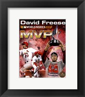 Framed David Freese 2011 MLB World Series MVP Portrait Plus