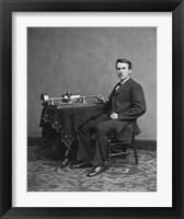 Framed Edison and phonograph