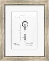 Framed Thomas Edison light bulb original patent drawing
