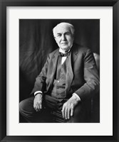 Framed Thomas Edison Seated