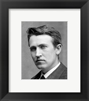 Framed Young Thomas Edison