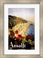 Framed Amalfi, travel poster