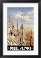 Framed Milano Travel Poster