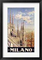 Framed Milano Travel Poster